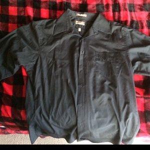 Button up long sleeve black shirt